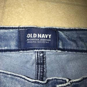 Old Navy Jeans - BLUE AND WHITE SUPER SKINNY JEGGINGS